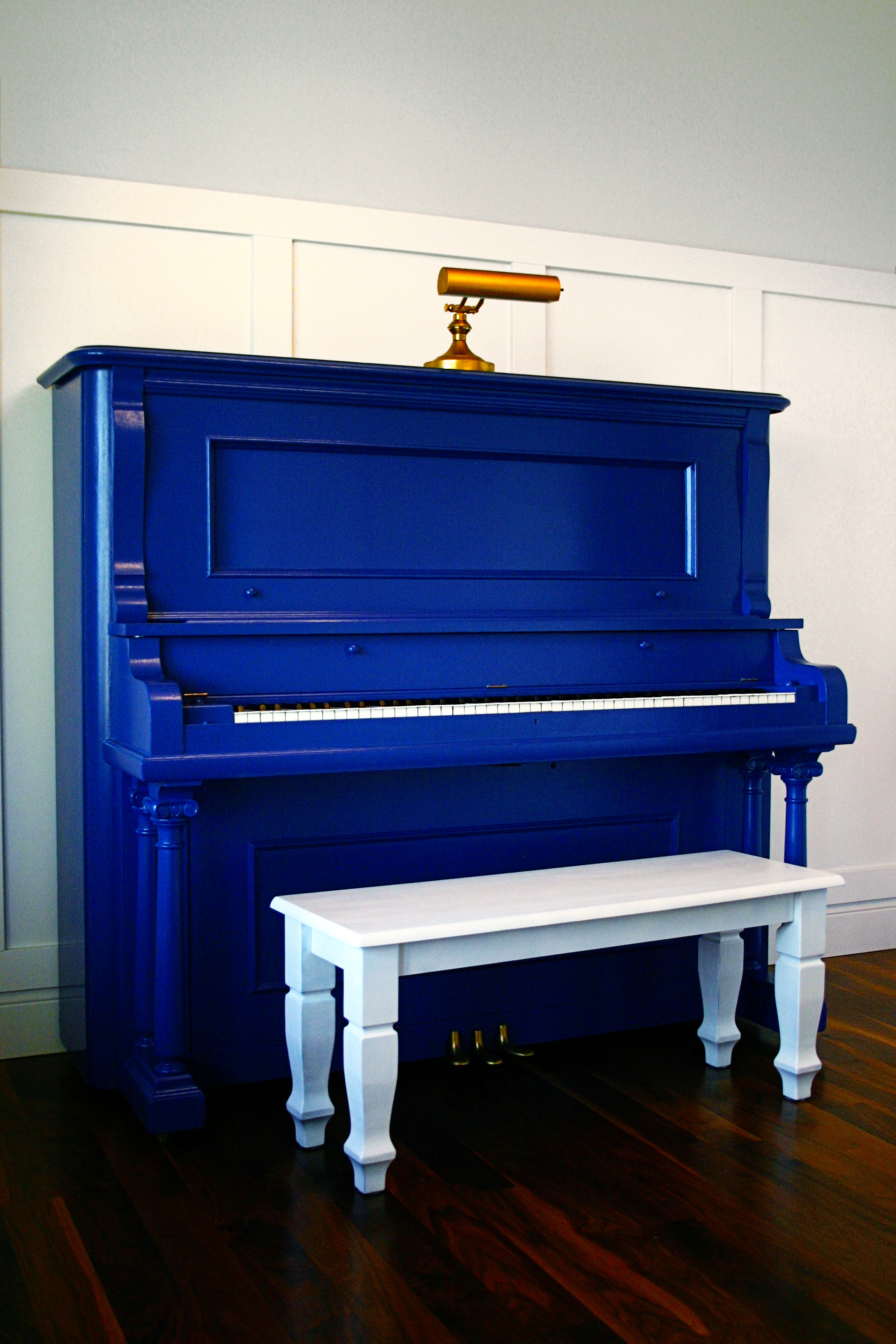 after shot of a refurnished pianio