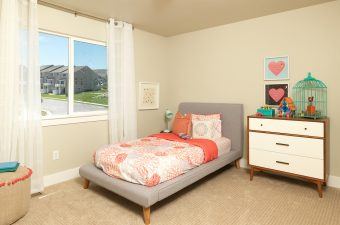completed and furnished kid's room built by McArthur Homes