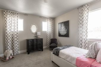 completed and furnished bedroom built by McArthur Homes