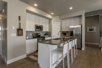 a completed kitchen built by McArthur homes