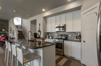 completed and furnished kitchen built by McArthur Homes