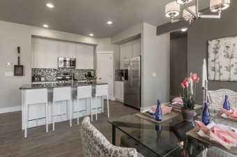 complete and furnished kitchen built by McArthur Homes