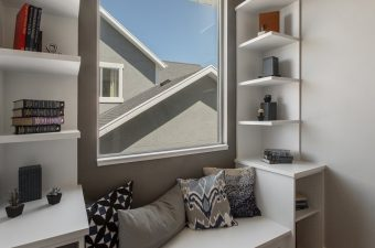 completed and furnished window nook built by McArthur Homes