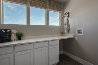 completed laundry room built by McArthur Homes