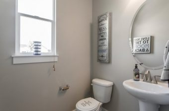 completed and furnished bathroom built by McArthur Homes