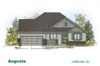 exterior drawing of Augusta home built by McArthur Homes
