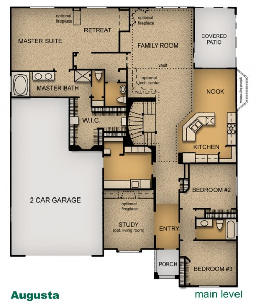 floor plan of Augusta home built by McArthur Homes