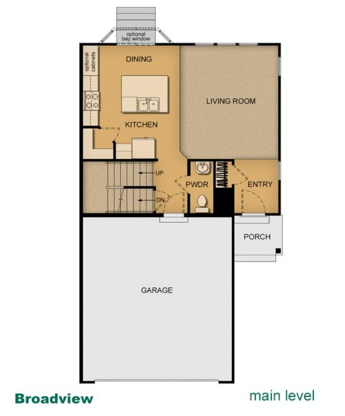 building layout of Broadview built by McArthur Homes