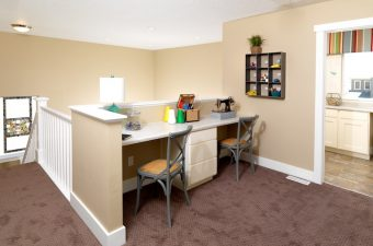 completed and furnished desk built by McArthur Homes