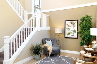 furnished and completed entry-way built by McArthur Homes