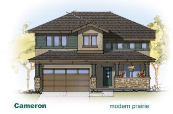 exterior drawing of Cameron home built by McArthur Homes