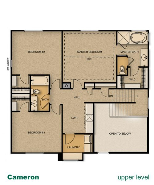 floor plan of Cameron home built by McArthur Homes