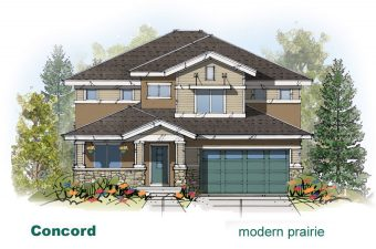 exterior drawing of Concord home built by McArthur Homes