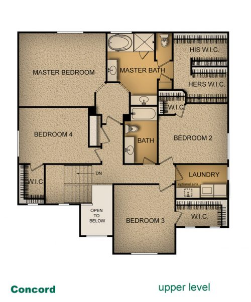 layout of Concord home built by McArthur Homes