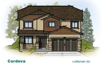 exterior drawing of Cordova home built by McArthur Homes