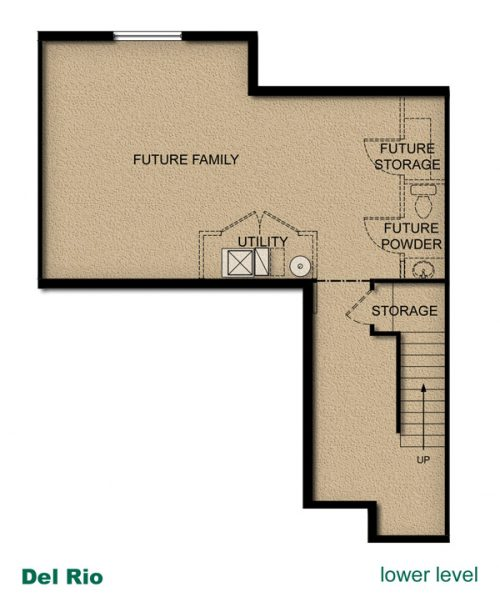 home layout of Del Rio home built by McArthur Homes