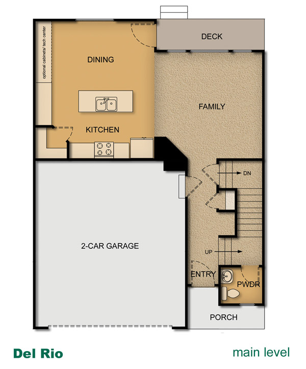 home layout of del rio home built by mcarthur homes - Townehome Holmes Homes Utah Floor Plans