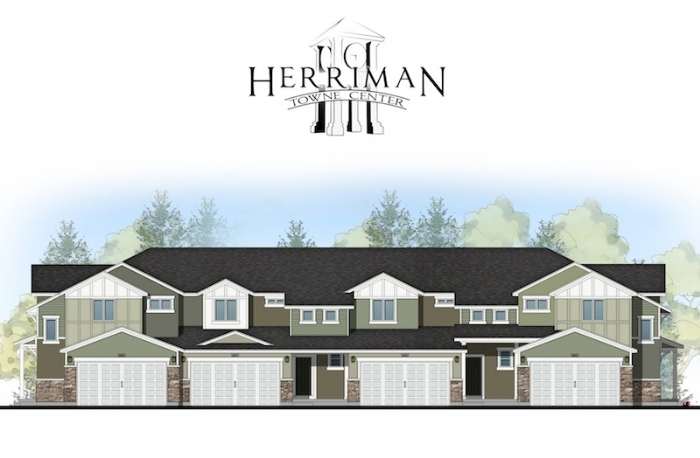 Herriman Towne Center drawing by McArthur Homes