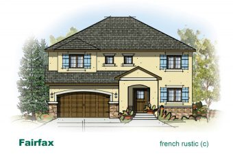 exterior drawing of Fairfax home built by McArthur Homes