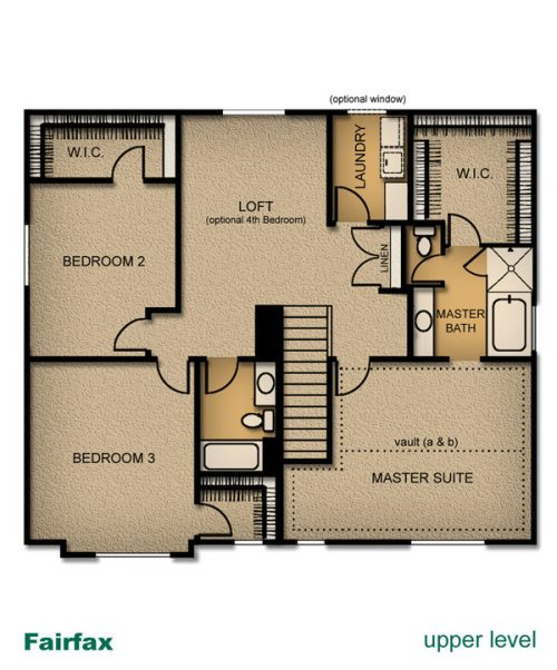 layout of Fairfax home built by McArthur Homes