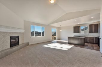 family room/kitchen/nook in the Monterey floor plan built by McArthur Homes