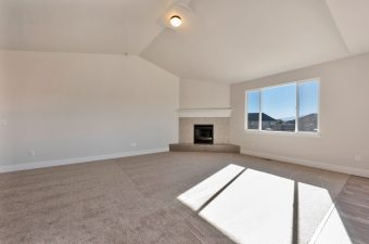 family room in the Monterey floor plan built by McArthur Homes