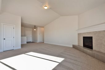Family room / entryway in the Monterey floor plan built by McArthur Homes