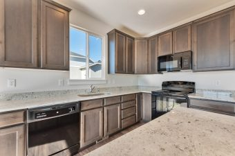 Kitchen in the Monterey floor plan built by McArthur Homes