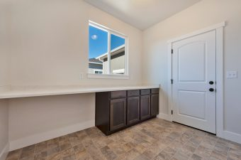 Laundry room/mudroom in the Monterey floor plan built by McArthur Homes