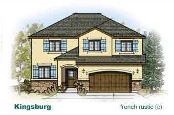 exterior drawing of Kingsburg home built by McArthur Homes
