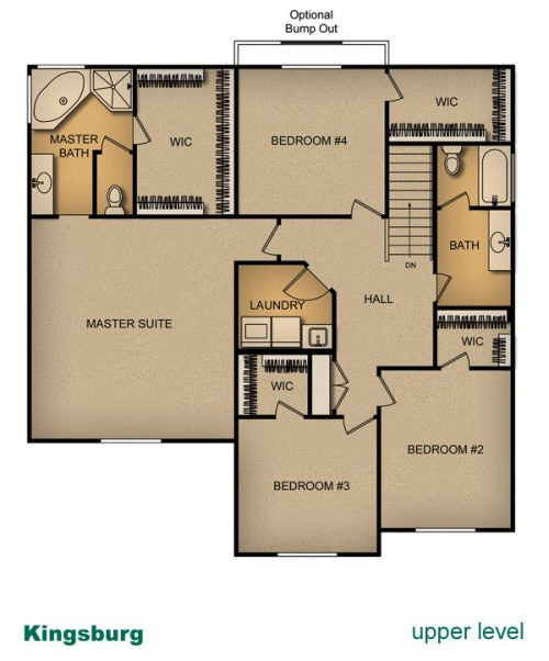 layout of Kingsburg house built by McArthur Homes