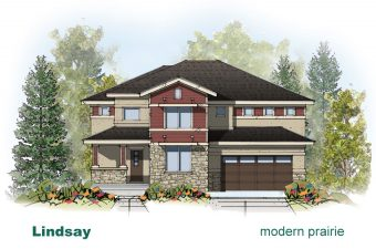 exterior drawing of Lindsay home built by McArthur Homes