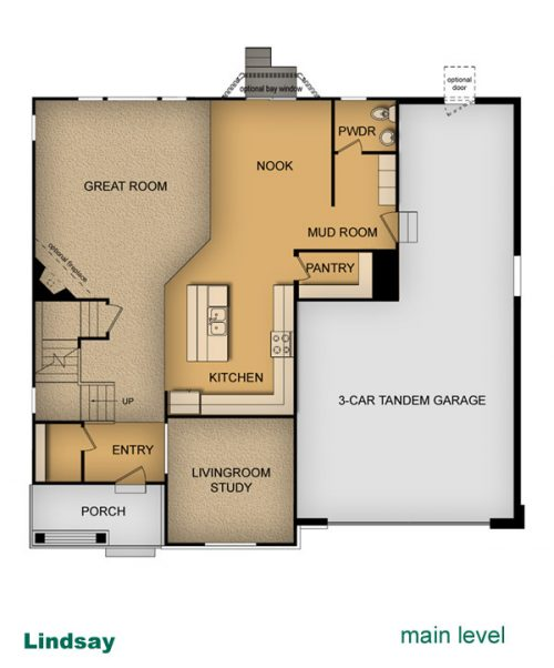 layout of Lindsay home built by McArthur Homes
