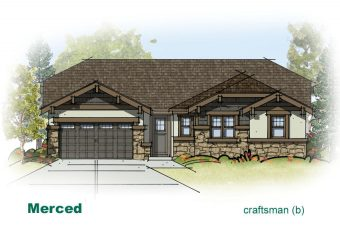 exterior drawing of Merced home built by McArthur Homes