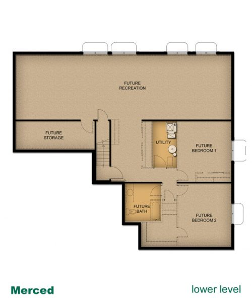 home layout of Merced home built by McArthur Homes