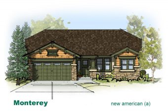 exterior drawing of Monterey home built by McArthur Homes