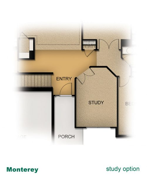 home layout of Monterey home built by McArthur Homes