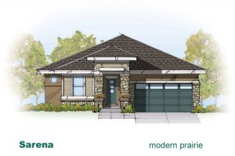 exterior drawing of Sarena house built by McArthur Homes