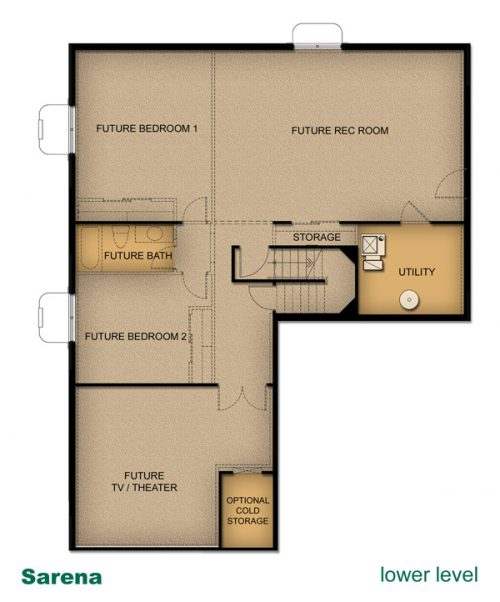 home layout of Sarena house built by McArthur Homes