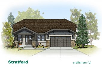 exterior drawing of Stratford home built by McArthur Homes