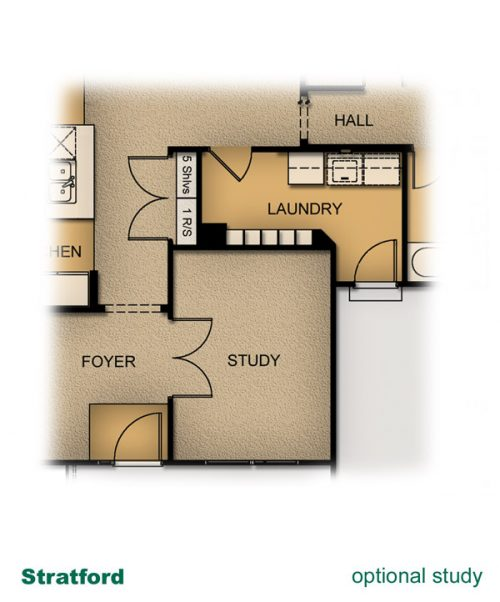 home layout of Stratford home built by McArthur Homes