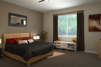 furnished room in a home built by McArthur homes