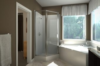 completed master bathroom built by McArthur Homes