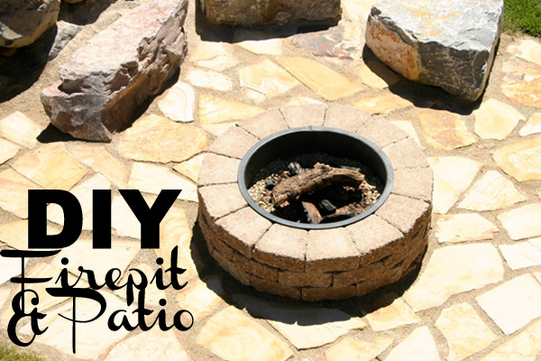 DIY firepit and patio