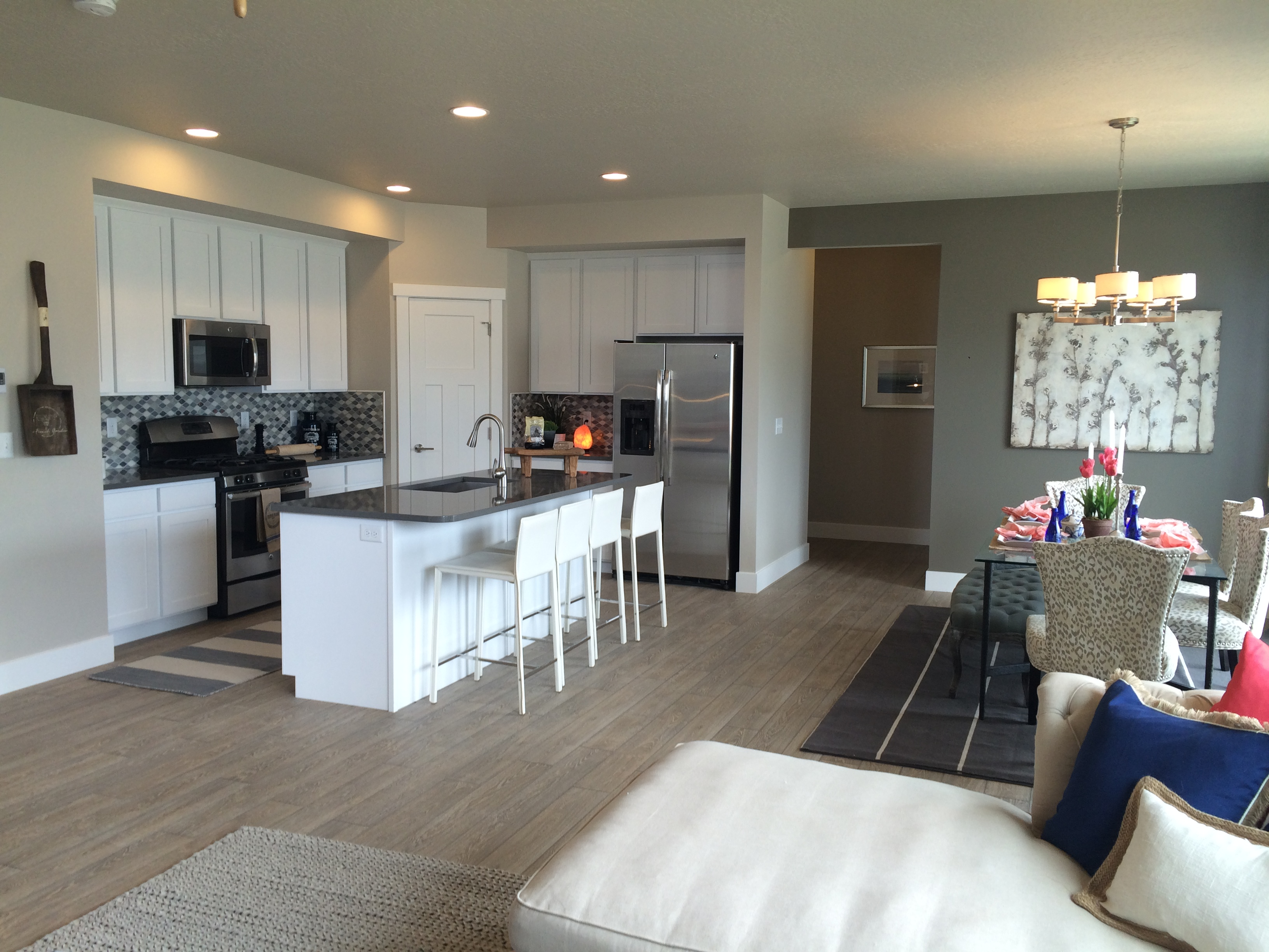 a completed a furnished kitchen built by McArthur Homes