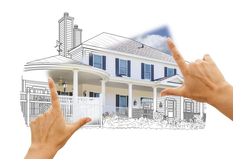 Blueprint of building a new home