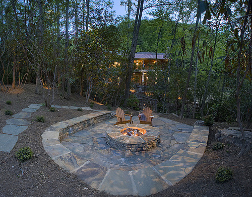 a firepit for the backyard