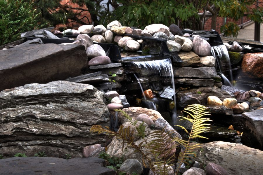 waterfall feature for the backyard