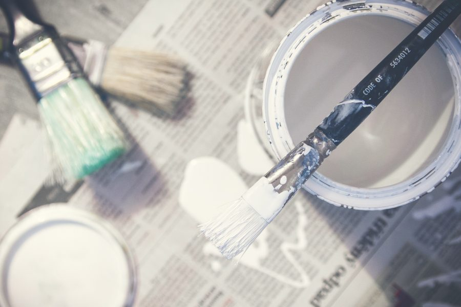 a paint can from freshly painting a home to give it a clean smell