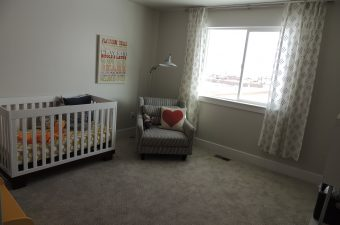 baby room in a home built by McArthur Homes